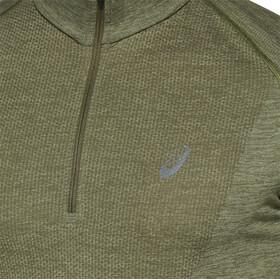 asics Seamless LS Half-Zip Top Men mantle green/lichen green